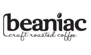 beaniac craft roaster coffee logo