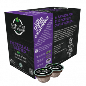 club coffee craft roasters imperial blend single serve coffee pods